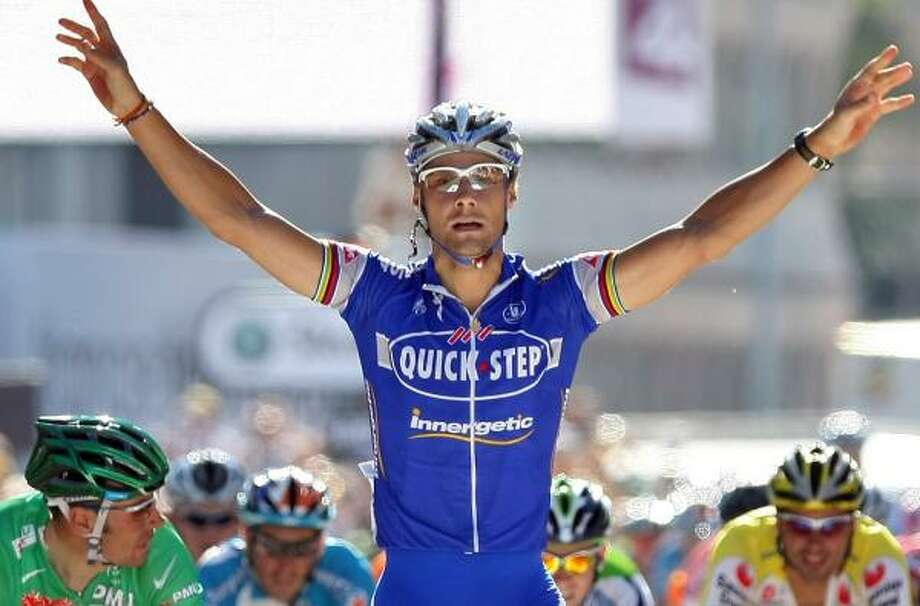 Belgium's Tom Boonen wins the sixth stage of the Tour de France. The race heads to the Alps for three days starting today. Photo: FRANCK FIFE, GETTY IMAGES