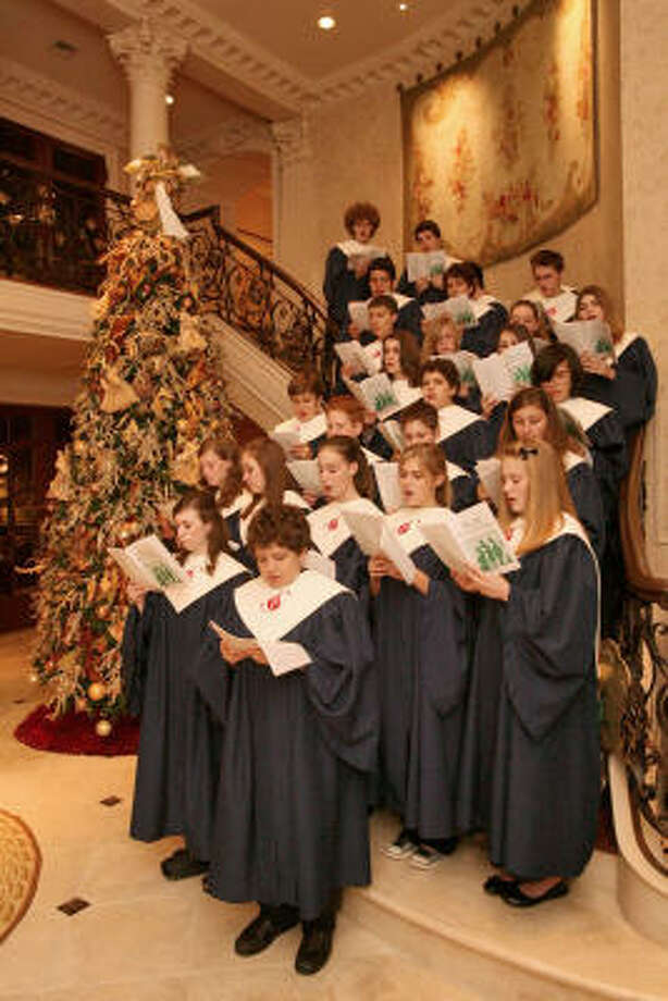Pure Sound, a children's choir from St. Luke's United Methodist CHurch, performed at the party. Photo: Bill Olive, For The Chronicle