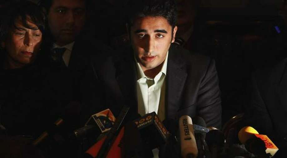 "Bilawal Bhutto Zardari, who will eventually succeed his mother, Benazir Bhutto, as head of the Pakistan People's Party, said, ""We've lost our best hope, but we haven't lost our only hope."" Photo: DANIEL BEREHULAK, GETTY IMAGES"