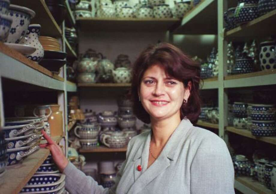 Anna Baczkowska has seen business slide at her ceramic pottery shop in Warsaw. The weak dollar has discouraged tourists from spending. Photo: LORI MONTGOMERY, MCCLATCHY TRIBUNE NEWS FILE