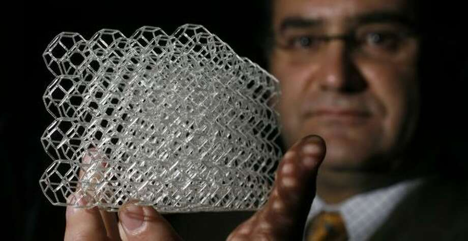Texas is home to numerous medical breakthroughs, thanks in large part to the Texas Medical Center in Houston. Check out Rice bioengineer Antonios Mikos and his large-scale model of the honeycomb structure that's being used to regrow bone tissue. This is just one of many advancements coming out of the Bayou City. Photo: JOHNNY HANSON, CHRONICLE