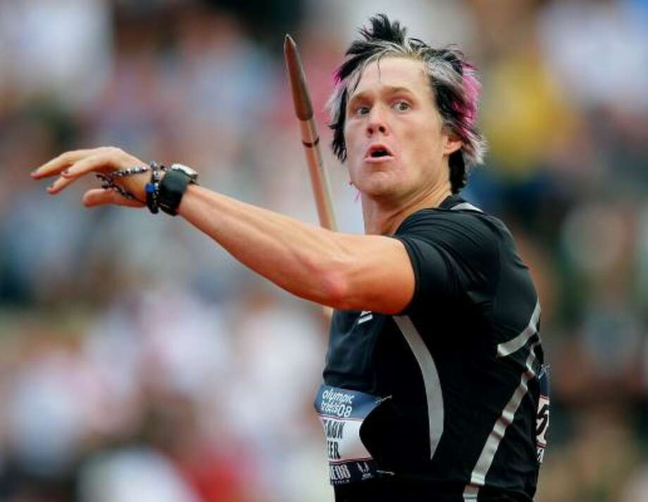 Flamboyant javelin thrower Breaux Greer won a bronze medal at last year's world championships. Photo: MATTHEW STOCKMAN, GETTY IMAGES