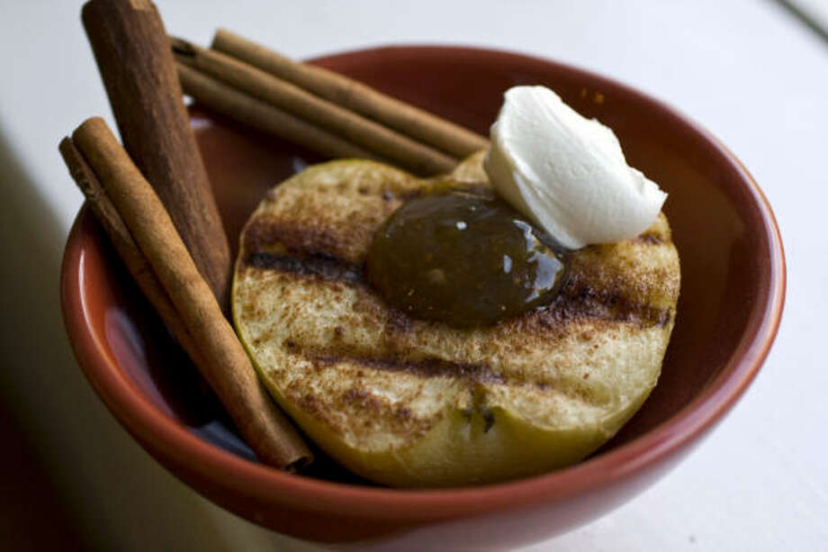 Grilled Cinnamon Apple With Mascarpone Photo: LARRY CROWE:, ASSOCIATED PRESS