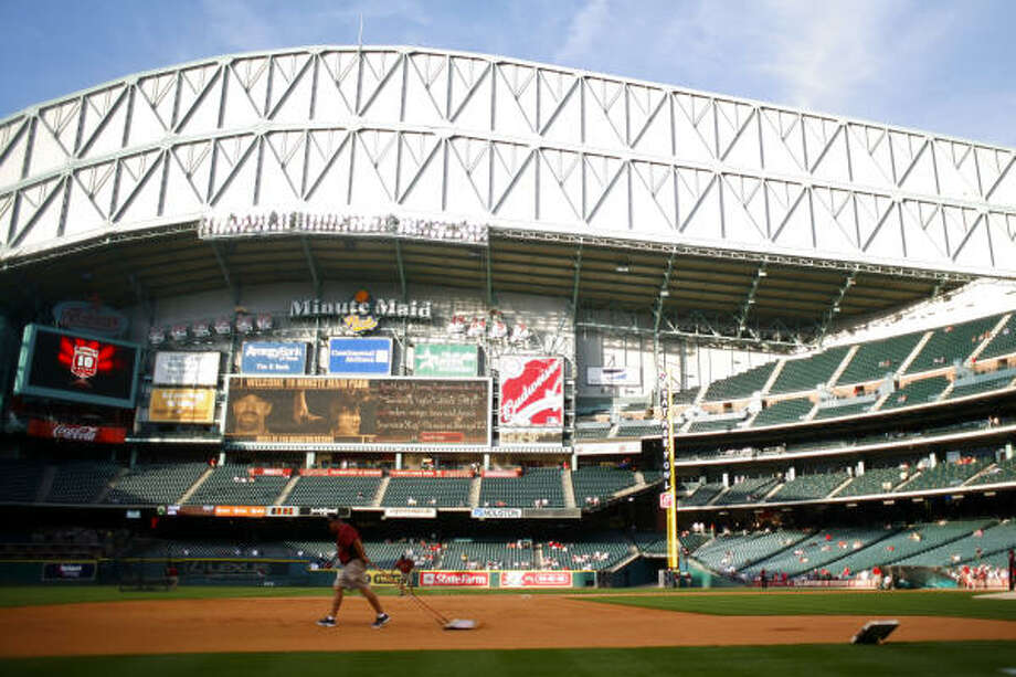 The 10th season at Minute Maid Park will feature festivities throughout the opening series with the Cubs. Photo: Michael Paulsen, Chronicle