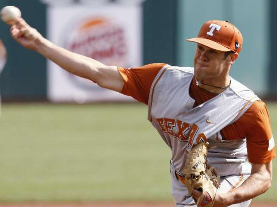 Sophomore righthander Chance Ruffin leads Texas with six wins. Photo: Sue Ogrocki, AP