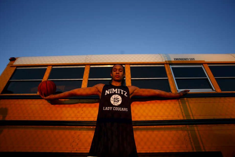 Brittney Griner, the Gatorade Texas Player of the Year, led Nimitz to the Class 5A state title game. Photo: Michael Paulsen, Houston Chronicle