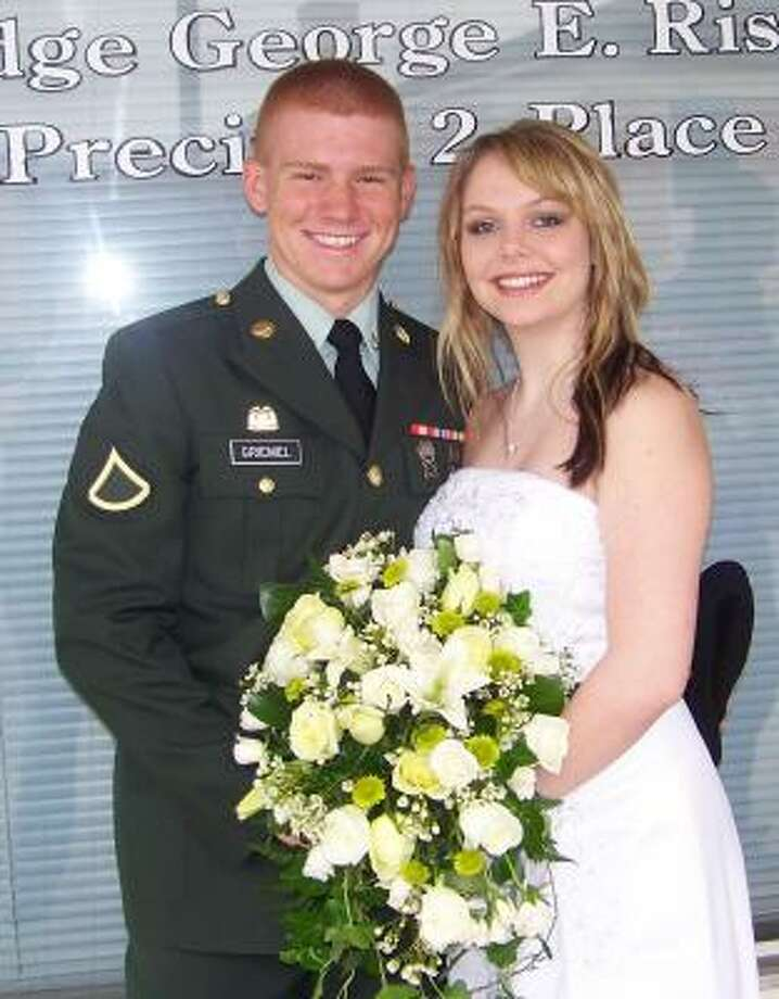 Jarrett and Candice Griemel were married in a short ceremony in 2008. Photo: ALL