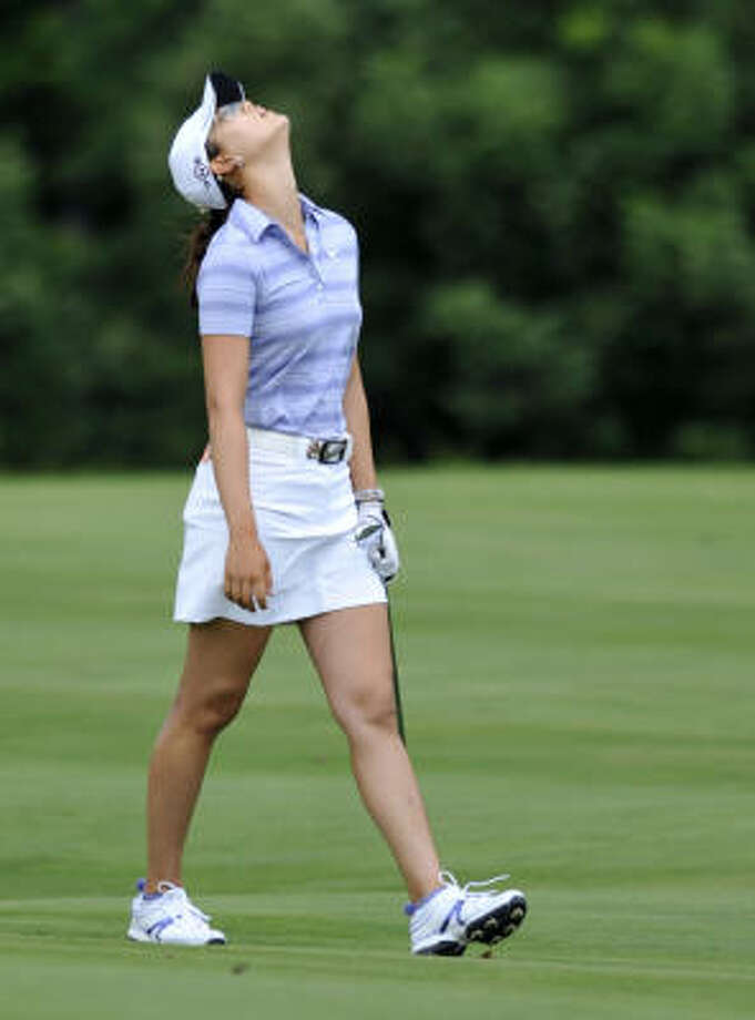 Michelle Wie's 74 on the second day of cuts was a stroke too many to keep her from being left out of the U.S. Women's Open. Photo: Gail Burton, AP