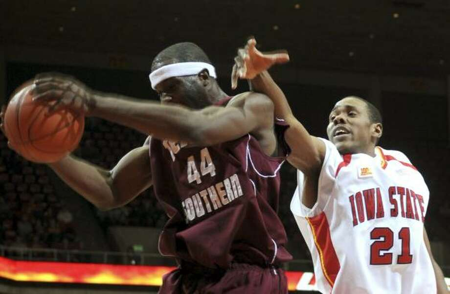 Kevin Abanobi (left) is coming back from a bout with the flu for TSU. Photo: Steve Pope, AP