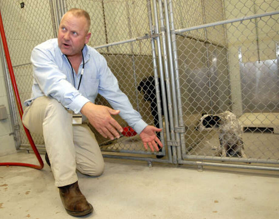 Gary Chambers is the new director of Baytown Animal Services talks about the new changes soon to me made to the animal shelter. Photo: Kim Christensen, For The Chronicle