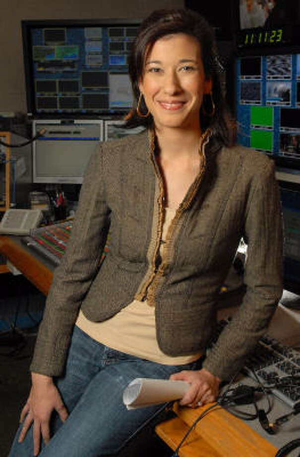 Great Day Houston segment and line producer Sabrina Miskelly in the control room at Channel 11. Photo: Dave Rossman, For The Chronicle