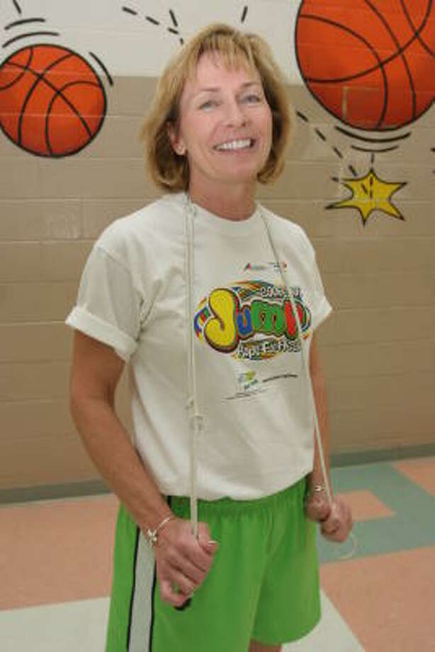 Annette Turner is physical education teacher at Commonwealth Elementary School. Photo: Suzanne Rehak, For The Chronicle
