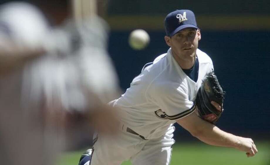 The Astros didn't get to Brewers starter Dave Bush until the ninth inning, when Lance Berkman broke up the shutout with an RBI double. Photo: Ron Kuenstler, AP