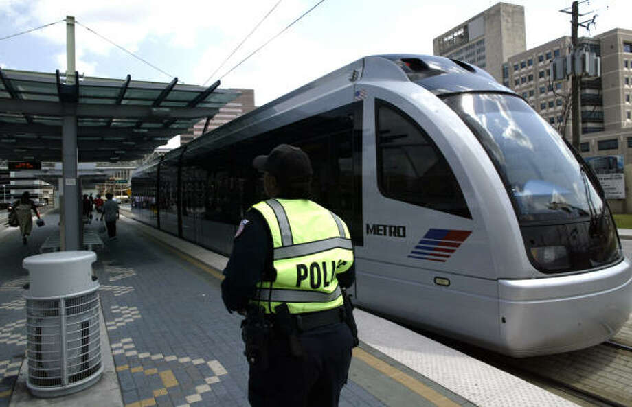 A peer review panel the Metropolitan Transit Authority invited to investigate a light rail incident that could have become a head-on collision found several flaws in the overall operation. Photo: Steve Ueckert, Houston Chronicle