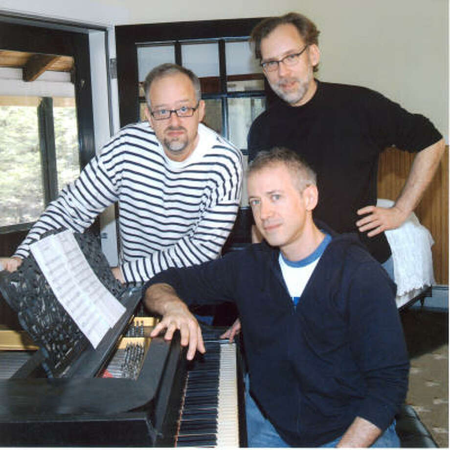 Book writer Doug Wright, from left, composer Scott Frankel and lyricist Michael Korie teamed up to create Grey Gardens, which is up for 10 Tony Awards. Photo: COURTESY PHOTO