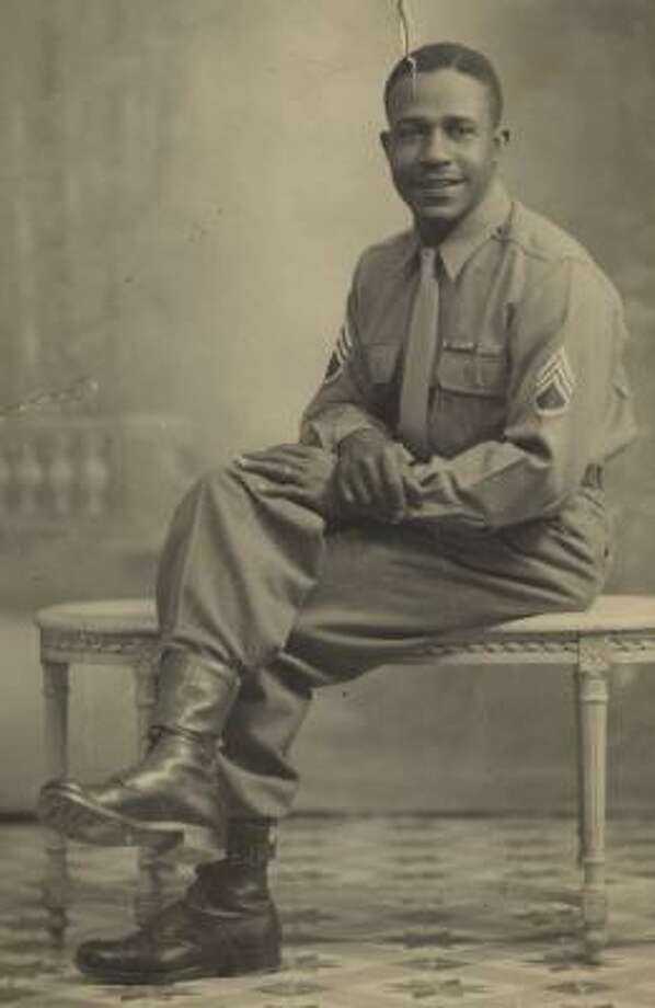 """William I. """"Bill"""" Prince Sr. poses at about 21 years old. Prince, born in 1914, was the fifth of seven children. His funeral was held Tuesday at Mount Zion Missionary Baptist Church in Houston. Photo: COURTESY OF THE PRINCE FAMILY"""