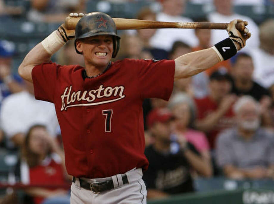 Craig Biggio started at DH against the Rangers. He's expected to take Saturday's game off. Photo: Karen Warren, Chronicle