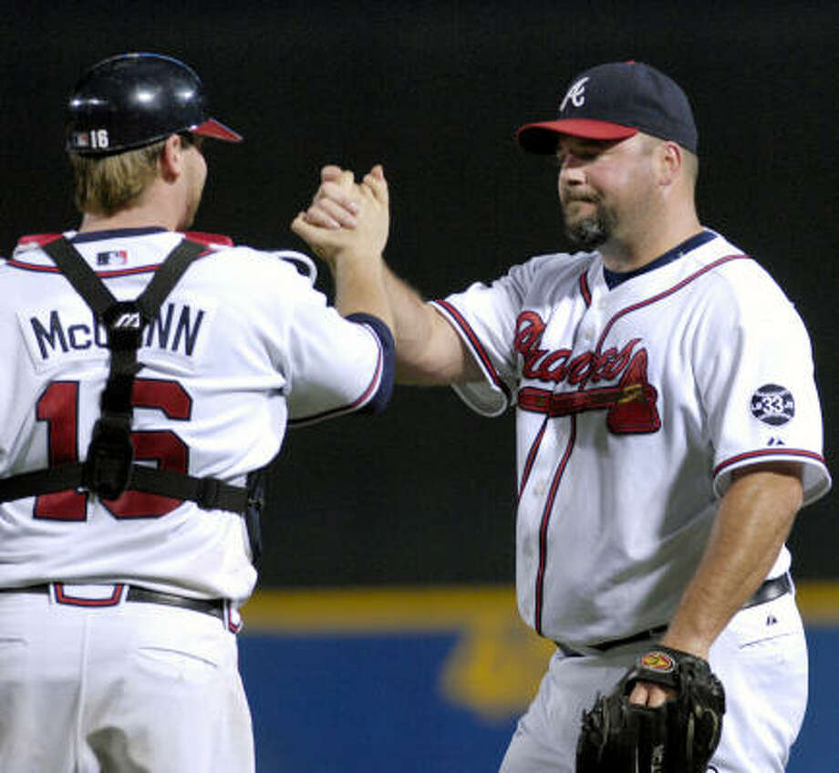 The Braves designated closer Bob Wickman for assignment one day after he allowed a walk-off homer to the Reds' Adam Dunn. Photo: Gregory Smith, AP