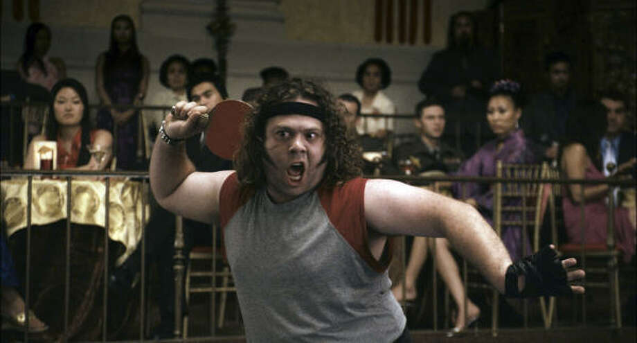 Dan Fogler stars as down-and-out former professional ping-pong phenom Randy Daytona in Balls of Fury. Photo: Gemma La Mana, AP