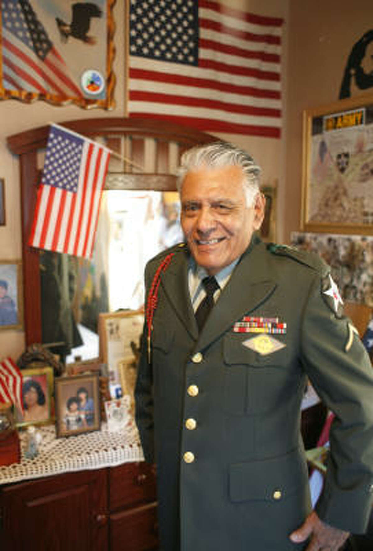 Marino still maintains his uniform and displays his war memorabilia in his home.