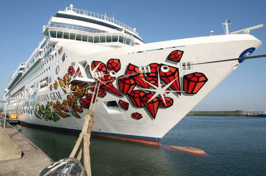 The Norwegian Gem, shown moored in the Netherlands, will debut this week in Europe and move to New York in December. Photo: DAVID HECKER, AFP/GETTY IMAGES