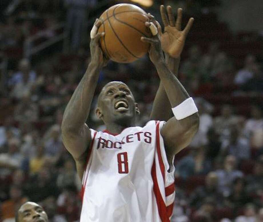 Bobby Jackson has been a lot deeper in the playoffs than either Yao Ming or Tracy McGrady. Photo: Steve Campbell, Chronicle