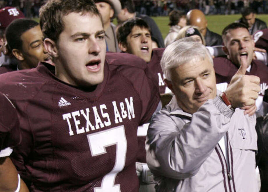 Stephen McGee, a holdover from Dennis Franchione's time, is back to start at quarterback. Photo: Paul Zoeller, AP