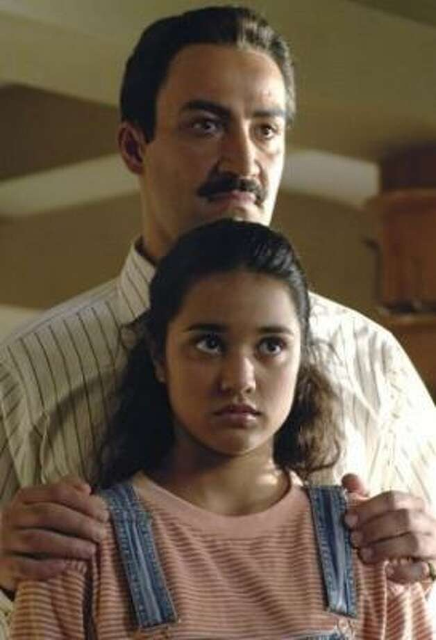 Jasira (Summer Bishil) is sent to live with her father (Peter Macdissi). Photo: DALE ROBINETTE, WARNER INDEPENDENT FILMS