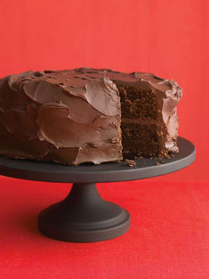 Dark-Chocolate Cake With Ganache Frosting Photo: KANA OKADA:, EVERYDAY FOOD