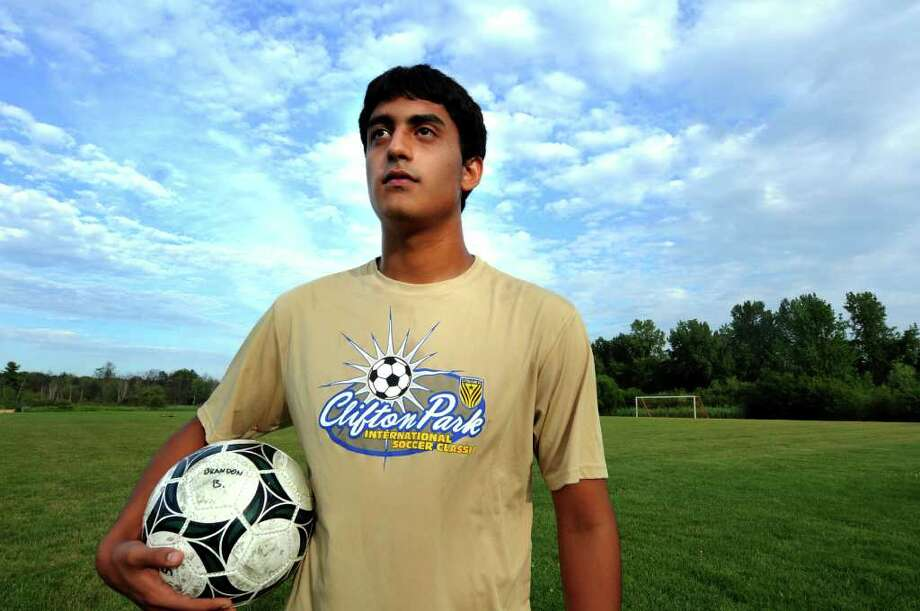 Farid Naizi, 17, of Clifton Park during soccer practice on Thursday, July 28, 2011, at Christian Brothers Academy in Colonie, N.Y. Naizi is a Muslim athlete who will be fasting during Ramadan. (Cindy Schultz / Times Union) Photo: Cindy Schultz
