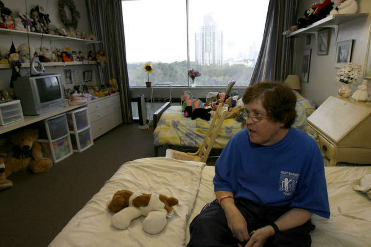 Janice Jackson, 55, has lived at the Center Serving Persons with Mental Retardation for more than 20 years.