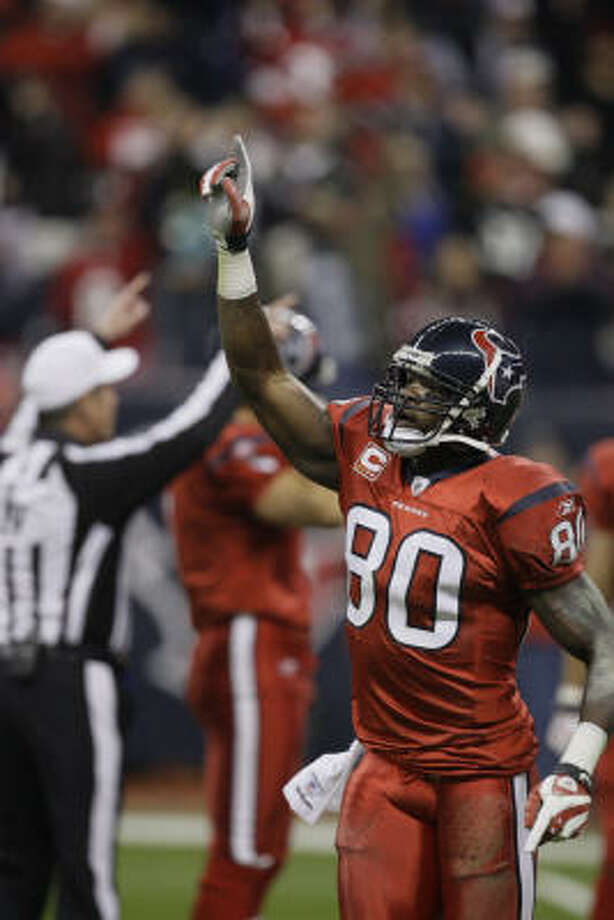 Houston Texans wide receiver Andre Johnson was named the NFL Alumni Wide Receiver of the Year. Photo: Melissa Phillip, Houston Chronicle