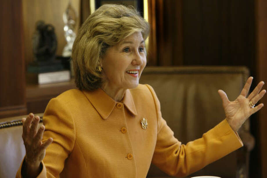 "U.S. Sen. Kay Bailey Hutchison sees the need for a ""course correction"" but opposes a withdrawal deadline. Photo: Carlos Antonio Rios, Chronicle"