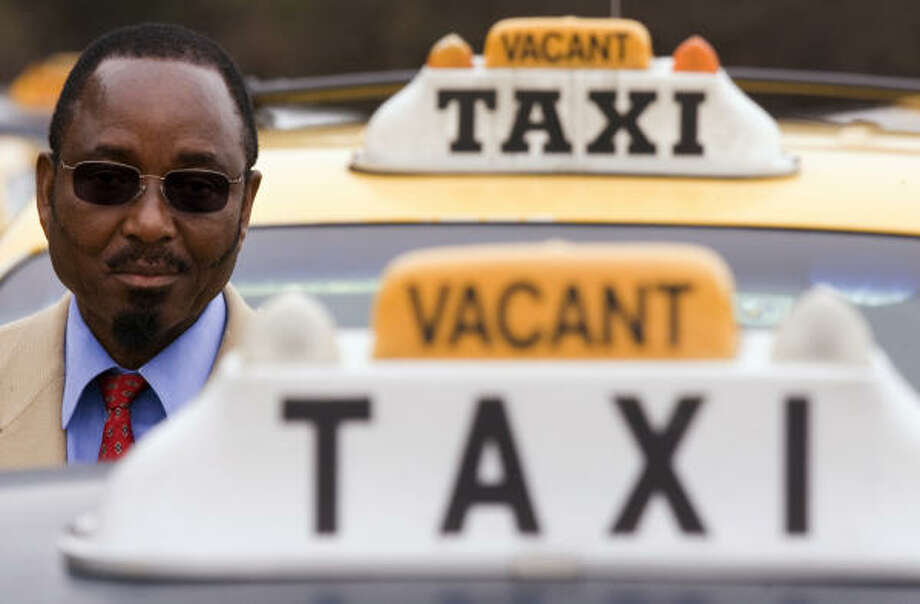 "J.W. Masseh, president of the Association of Taxi Cab Drivers and Owners, which represents smaller companies, says the proposal would hurt cabdrivers. ""We are just trying to make a living,"" he said. Photo: SMILEY N. POOL, CHRONICLE"