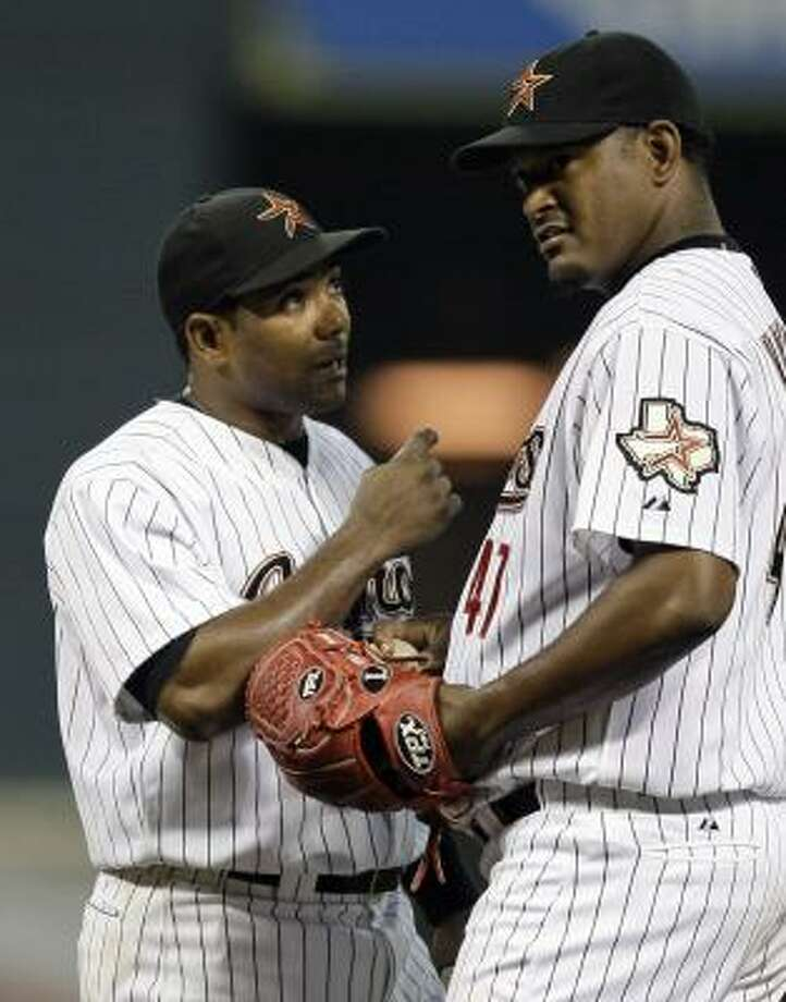 A team fit for embalming in 2007 has turned wildly entertaining. Wade traded five players for shortstop Miguel Tejada, left, and three for closer Jose Valverde, columnist Steve Campbell writes. Photo: David J. Phillip, AP