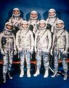 The Mercury 7 astronauts are shown in this 1961 photo provided by NASA. From left are Wally Schirra, Alan Shepard, Deke Slayton, Gus Grissom, John Glenn, Gordon Cooper and Scott Carpenter.