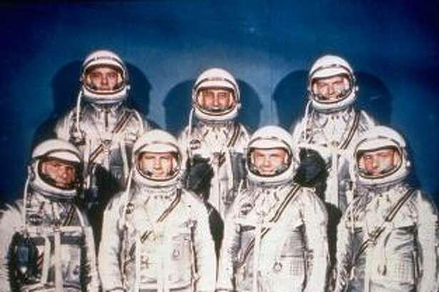 The Mercury 7 astronauts are shown in this 1961 photo provided by NASA. From left are Wally Schirra, Alan Shepard, Deke Slayton, Gus Grissom, John Glenn, Gordon Cooper and Scott Carpenter.