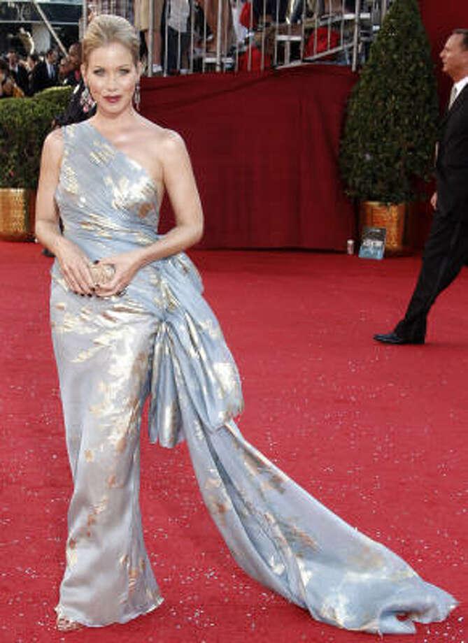 Christina Applegate shines on the red carpet at the Emmy Awards on Sunday. Photo: Matt Sayles, Associated Press