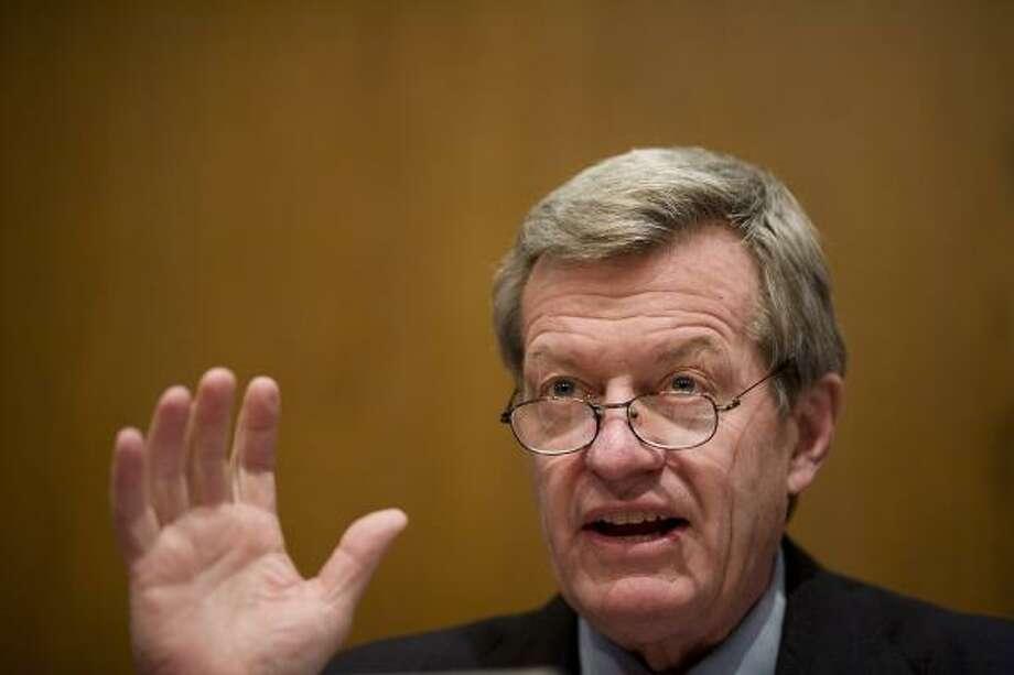 Max Baucus, U.S. senator from Montana. Photo: JAY PREMACK, BLOOMBERG NEWS