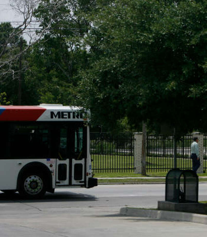 The No. 26 bus heads across the city. Ridership is in decline in Houston. Photo: Johnny Hanson, Chronicle