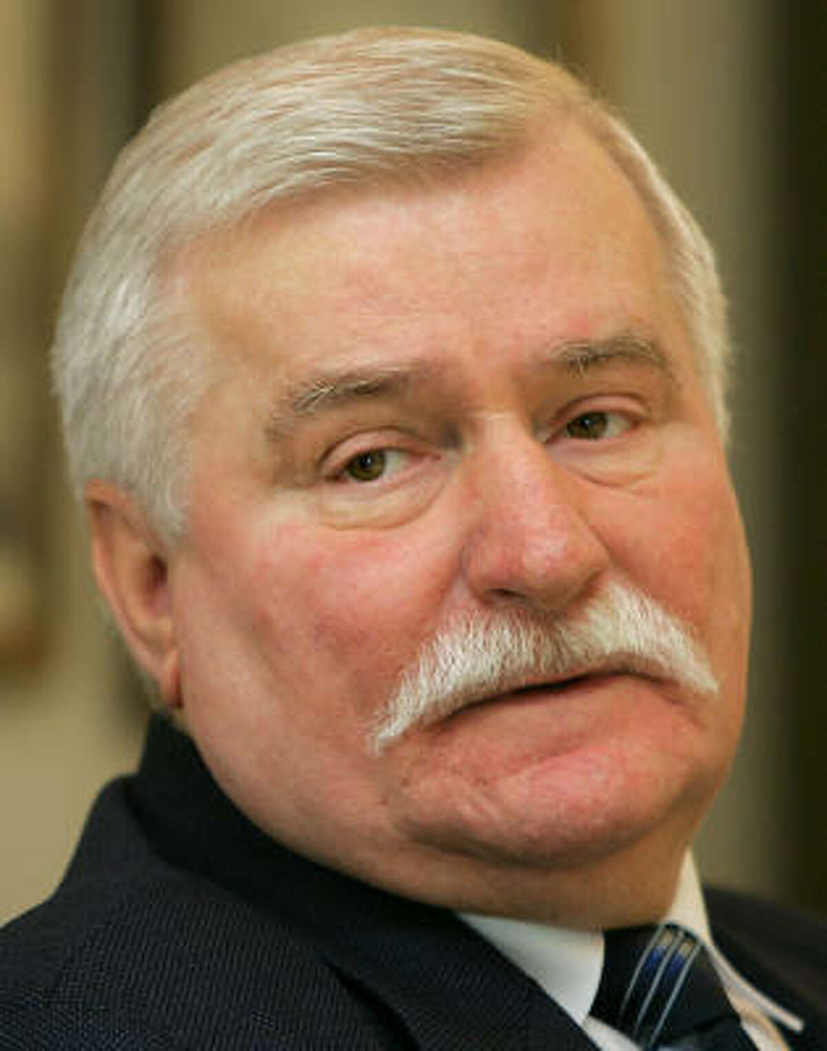 Former Polish President and Nobel peace laureate Lech Walesa is shown in this 2005 file photo attending at a news conference in Madrid.