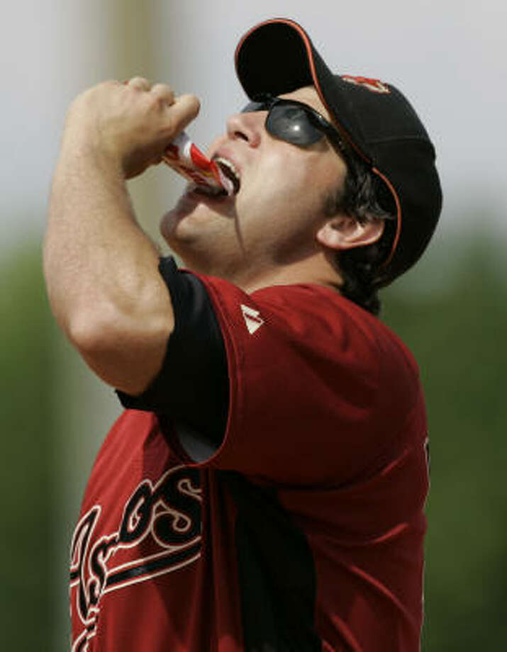 Lance Berkman is practically an old salt at first for the Astros. Photo: Paul Sancya, AP