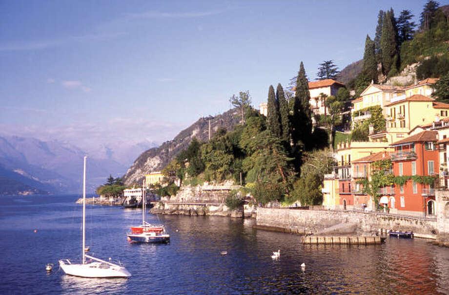 Varenna's romantic promenade hugs the shore of Lake Como. Photo: David C. Hoerlein, Chronicle