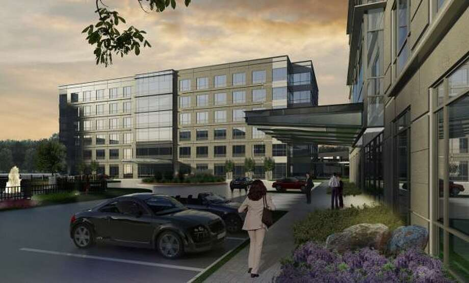 """Construction has begun on the first phase of Beltway Lakes, the newest """"green"""" Class """"A"""" office destination to be developed in northwest Houston. The first phase of Beltway Lakes under construction includes a 165,000-square-foot, six-story office building. Photo: MORRIS ARCHITECTS"""
