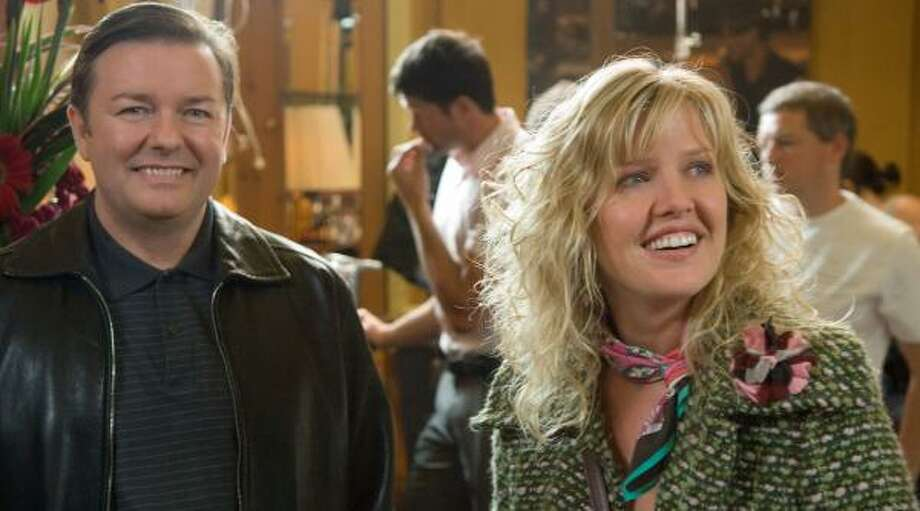 The Extras Gift Setshowcases the talents of Ricky Gervais and co-star Ashley Jensen. Photo: RAY BURMISTON, HBO