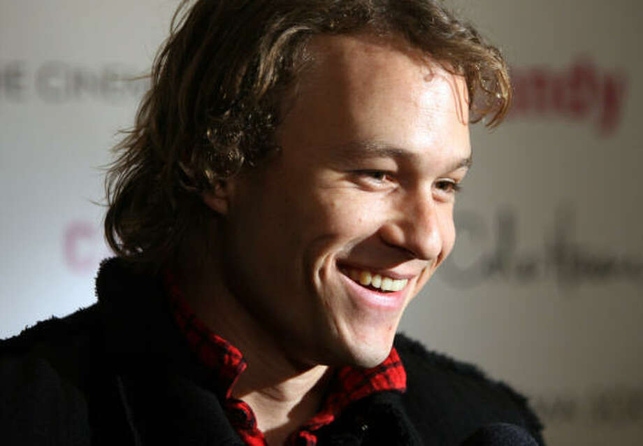"In this Monday, Nov. 6, 2006 file picture, actor Heath Ledger arrives for the premiere of his new film ""Candy"" in New York. Ledger, the talented 28-year-old actor who gravitated toward dark, brooding roles that defied his leading-man looks, was found dead Tuesday in a Manhattan apartment. The Australian-born actor was 28. Photo: Dima Gavrysh, AP"