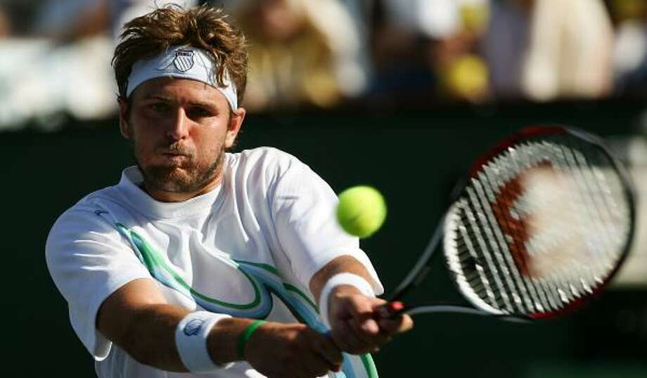 Mardy Fish's win over David Nalbandian puts him in the Indian Wells semifinals. Photo: HARRY HOW, GETTY IMAGES