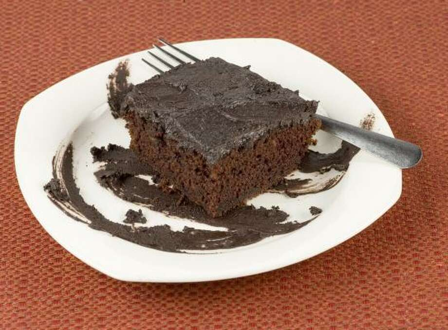 Coffee gives Collins Chocolate Cake and its frosting a pleasingly bitter bite. Photo: BUSTER DEAN, CHRONICLE
