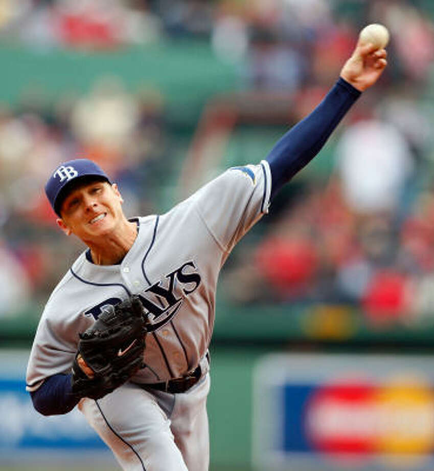 Scott Kazmir, a former standout for Cy Falls High School, agreed to a three-year contract extension with the Tampa Bay Rays worth $28.5 million on Wednesday. Photo: Jim Rogash, Getty Images