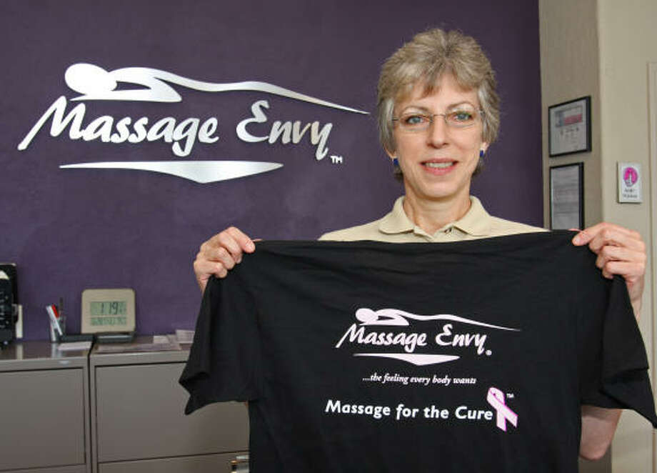 Marcela Zambra, massage therapist for Message Envy, will participate in the Massage for the Cure at Westgate Massage Envy. Photo: Suzanne Rehak, For The Chronicle